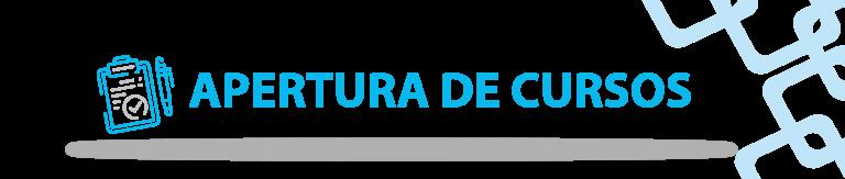 APERTURA DE CURSOS