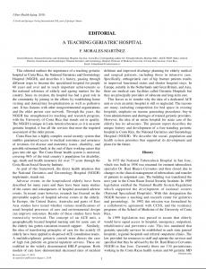 A TECHING GERIATRIC HOSPITAL