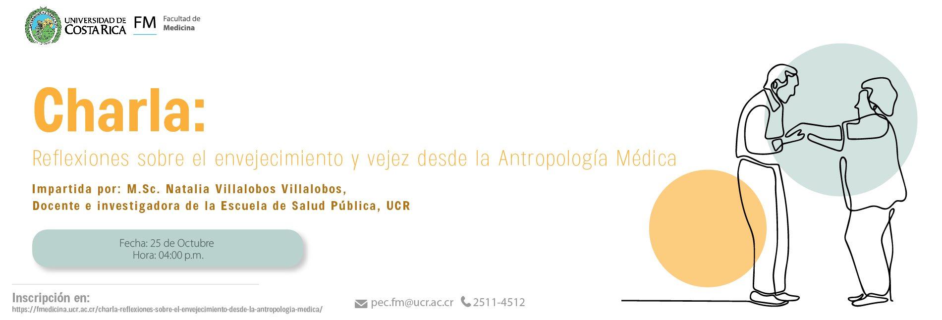 """Charla Virtual: """"Reflexiones sobre el envejecimiento desde la Antropología Médica"""""""